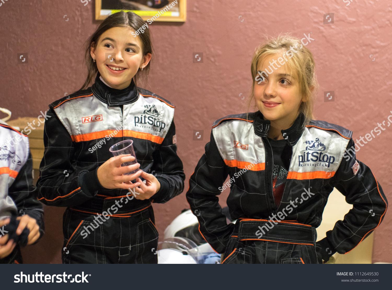 kart over st petersburg Girl Racers Kart Gear Pilots Russia Stock Photo (Royalty Free  kart over st petersburg
