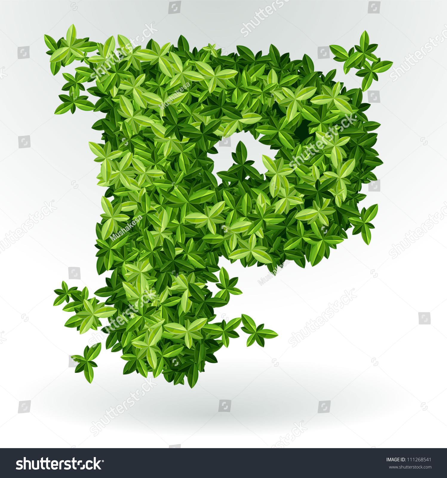 Green Letter P letter p, green leaves summer vector alphabet ...