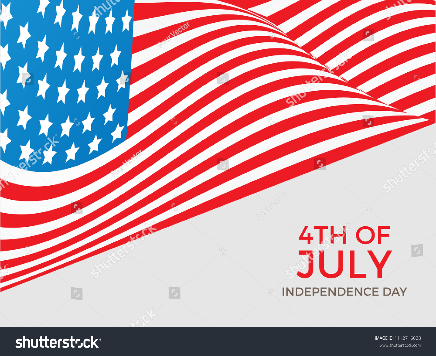 4th July USA Independence Day Vector Stock Vector (Royalty Free ...