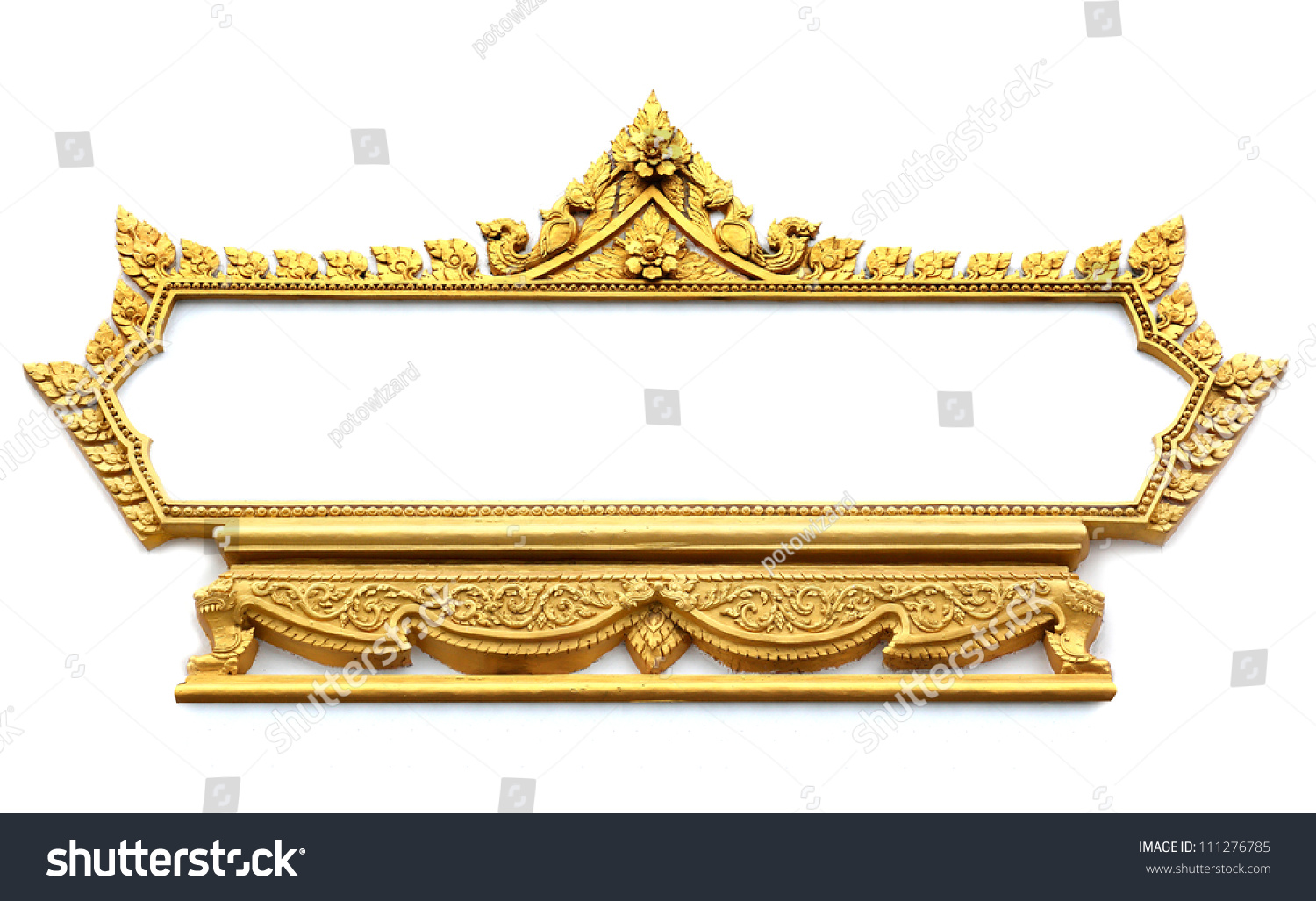 Frame Thai Art Wall Pattern Thailand Stock Photo (Royalty Free ...