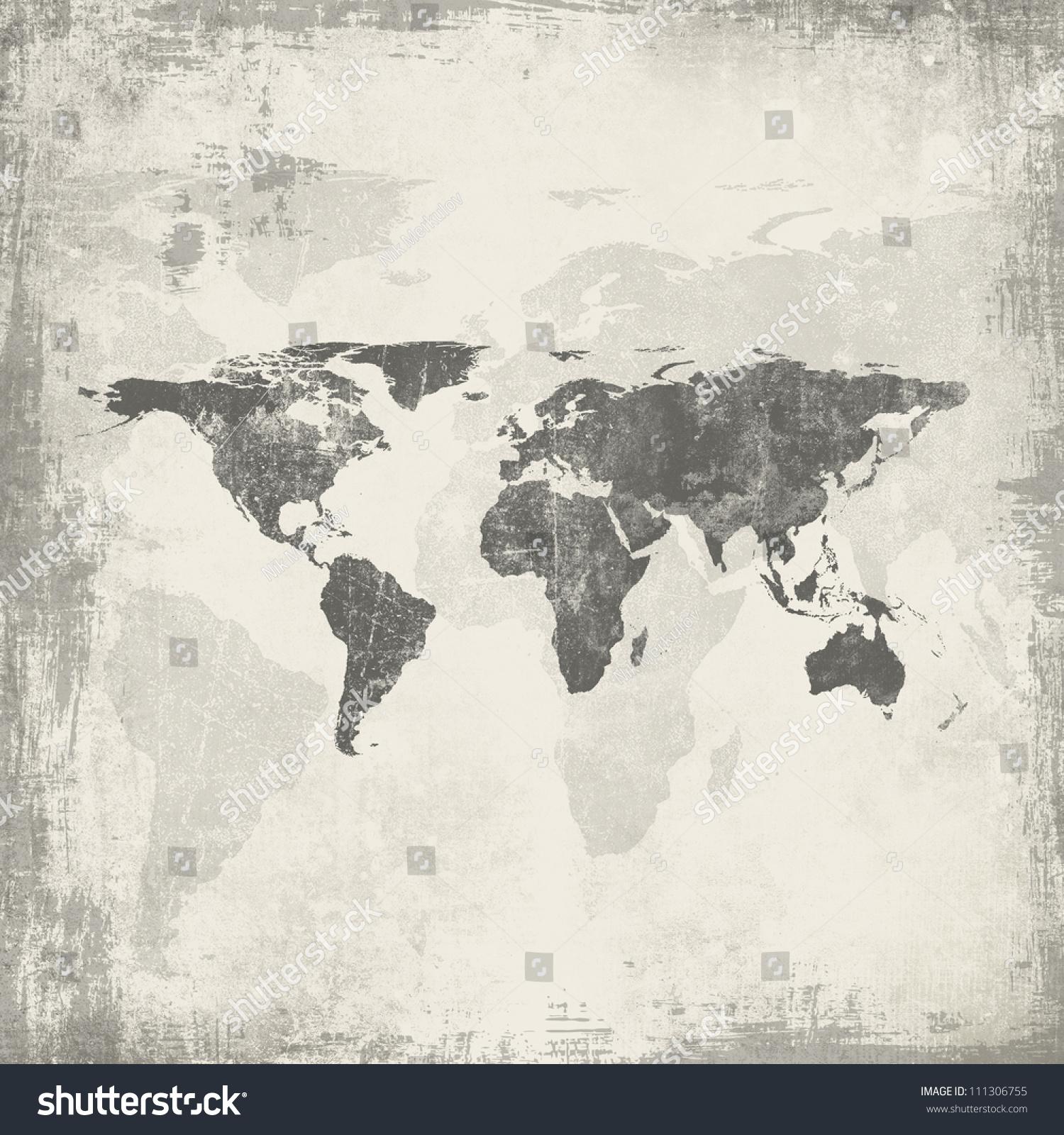 Grunge world map background stock illustration 111306755 shutterstock grunge world map background gumiabroncs Gallery