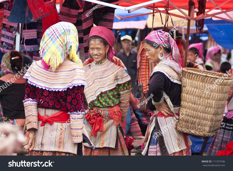 Bac Ha (Lao Cai) Vietnam  city photos gallery : women at Bac Ha market on July 5, 2009 in Lao Cai, Vietnam. Bac Ha ...
