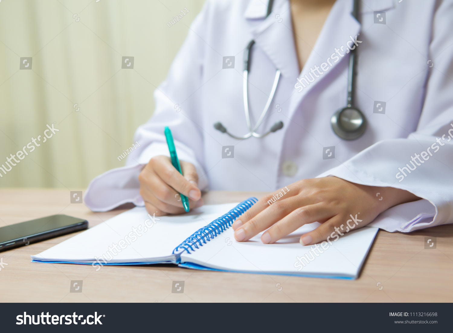 Medical Specialist Write Summary Report Patients Stock Photo