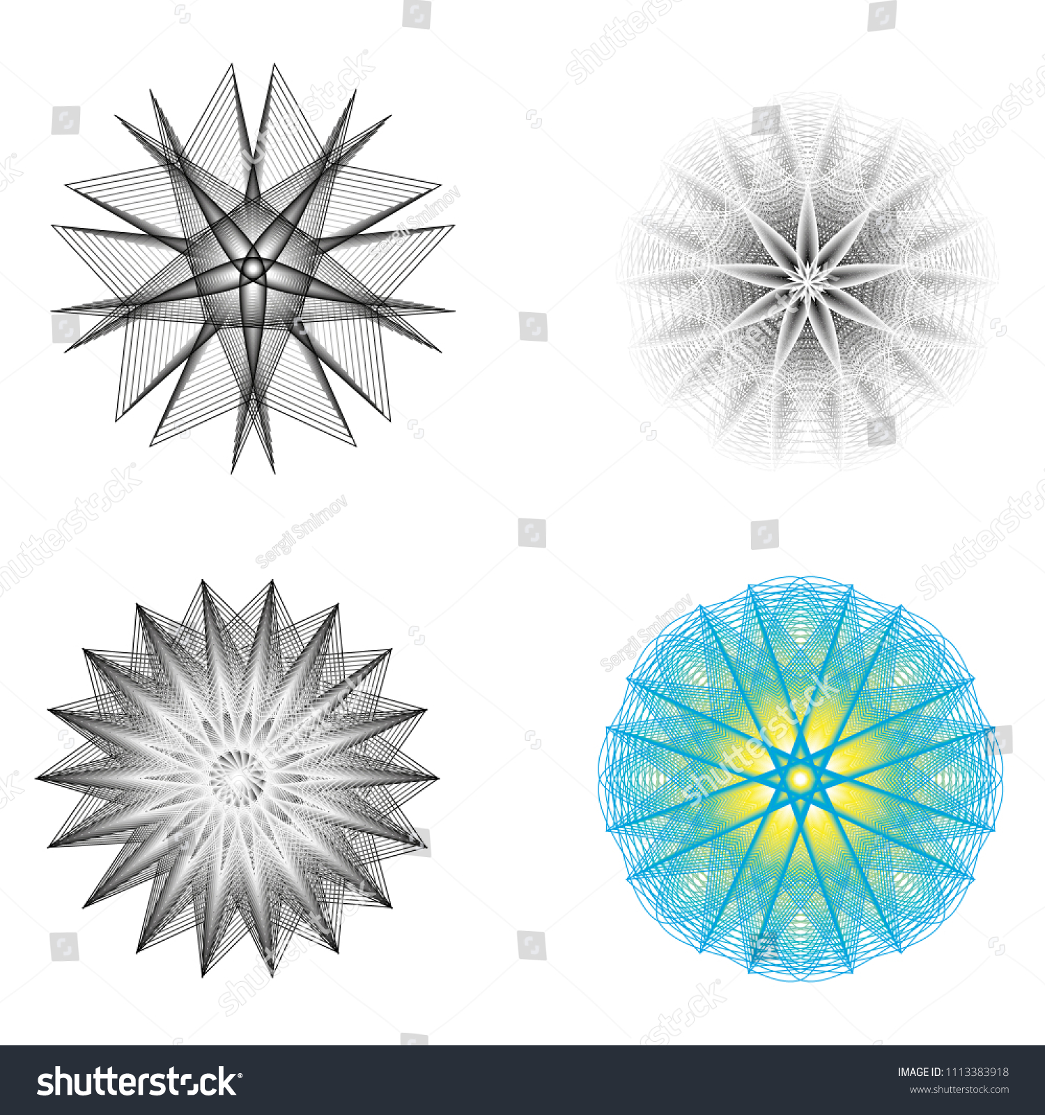 Geometry Minimalistic Artwork Poster With Simple Shape And Figure Abstract