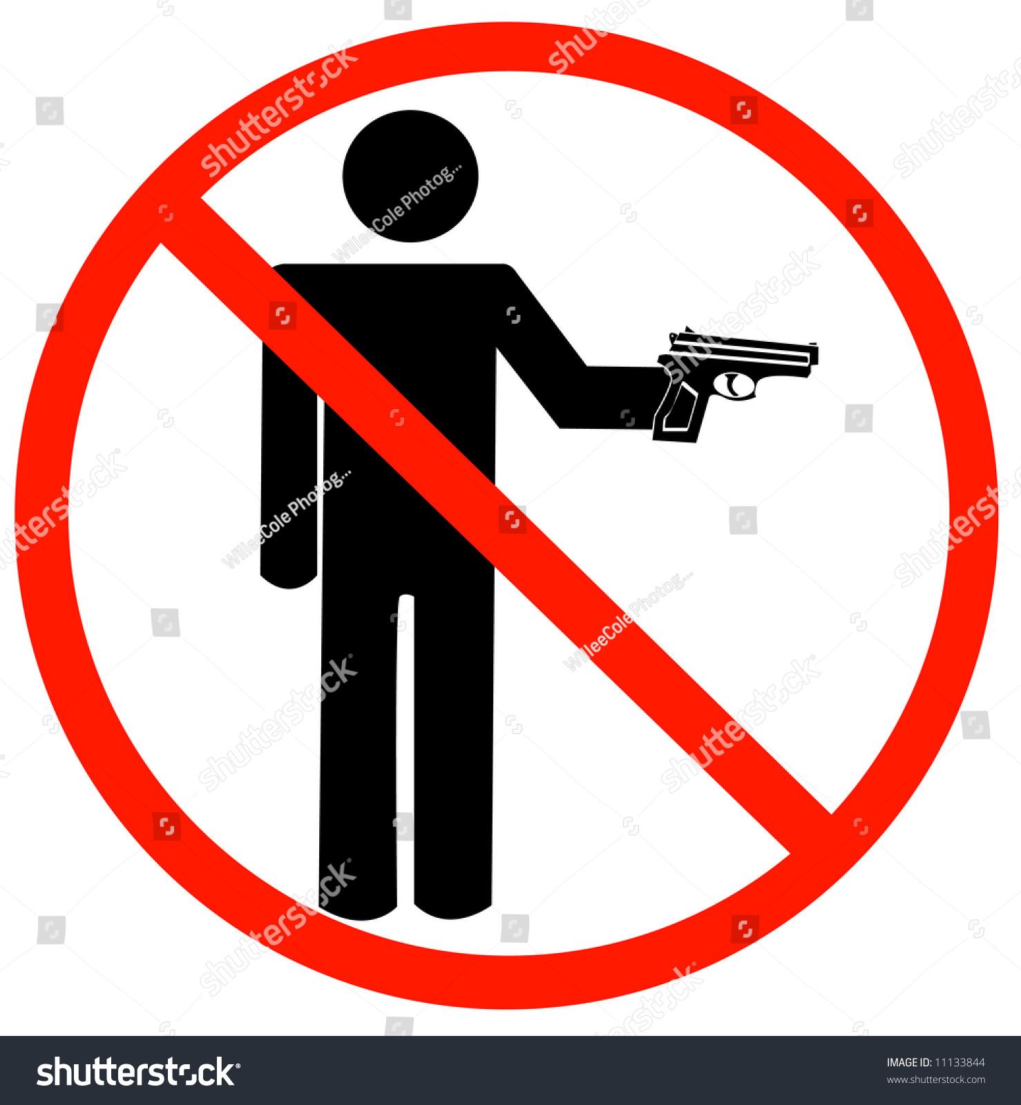 Man holding gun not allowed symbol stock illustration 11133844 man holding gun with not allowed symbol guns prohibited biocorpaavc