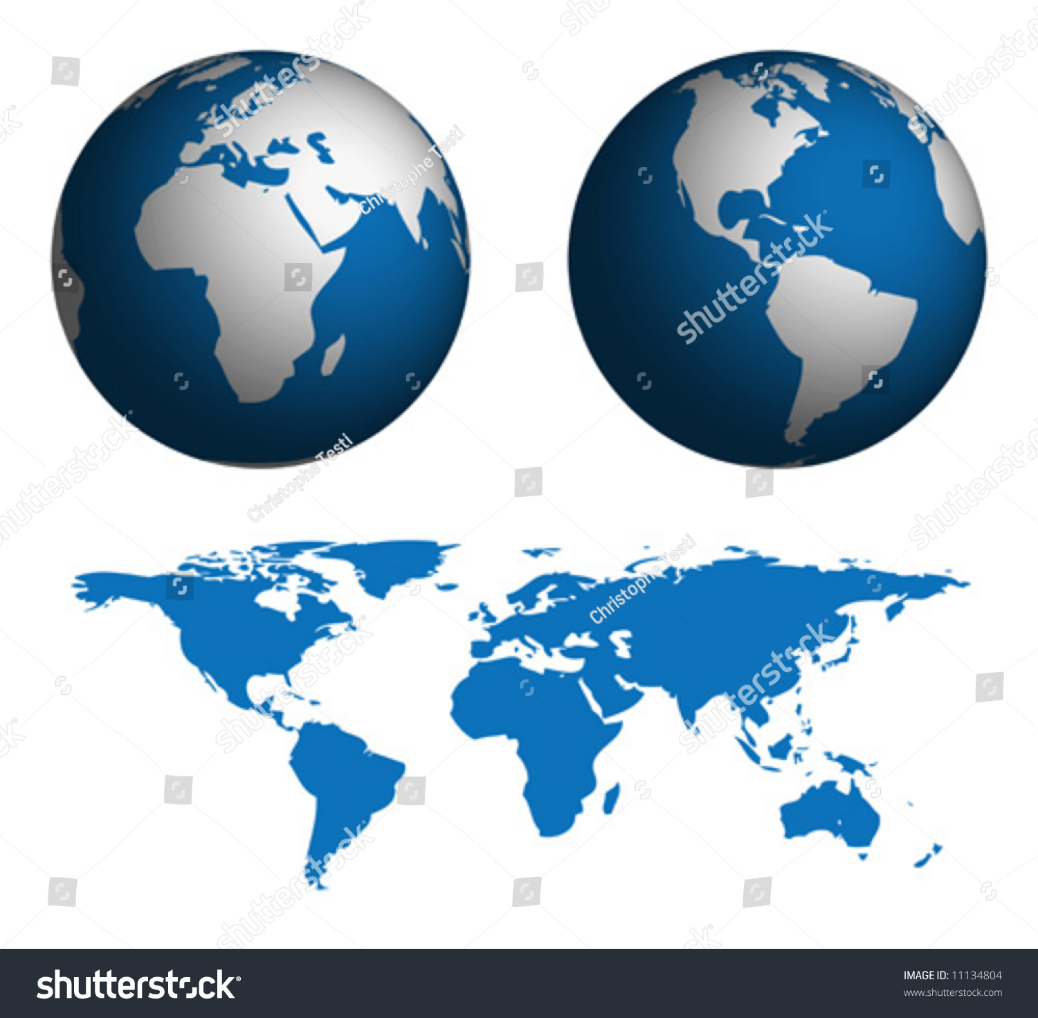 Globe map world map manually traced stock vector 11134804 globe and map of the world map was manually traced in illustrator from public domain gumiabroncs Images