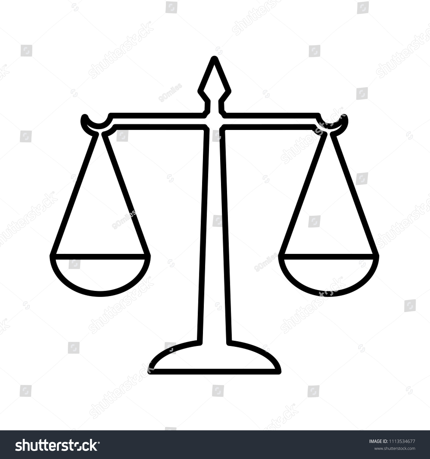 Law Scales Justice Line Icon Symbol Stock Illustration 1113534677