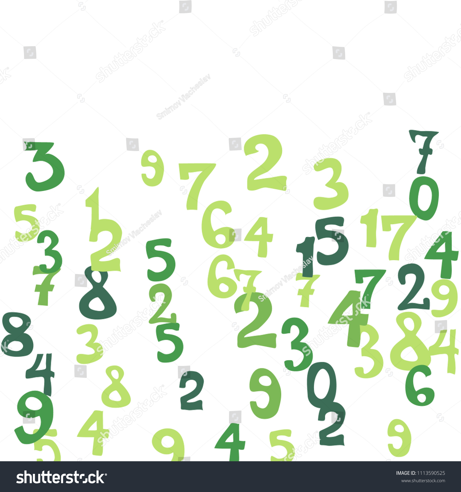 Falling Numbers Abstract Background Abstract Background Stock Vector ...