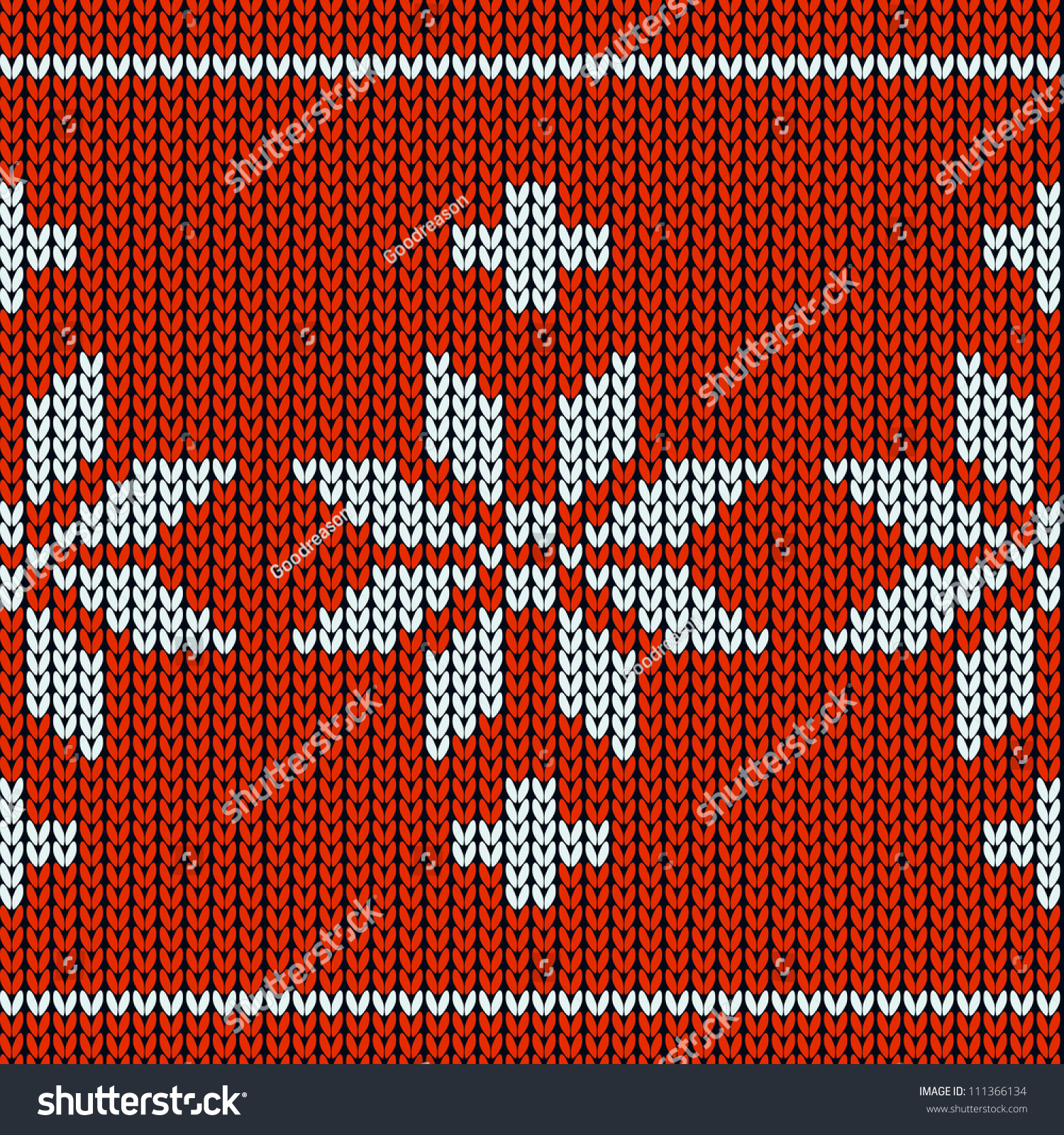 Snowflake Jumper Knitting Pattern : Knitting Pattern With A Snowflakes Stock Vector Illustration 111366134 : Shut...