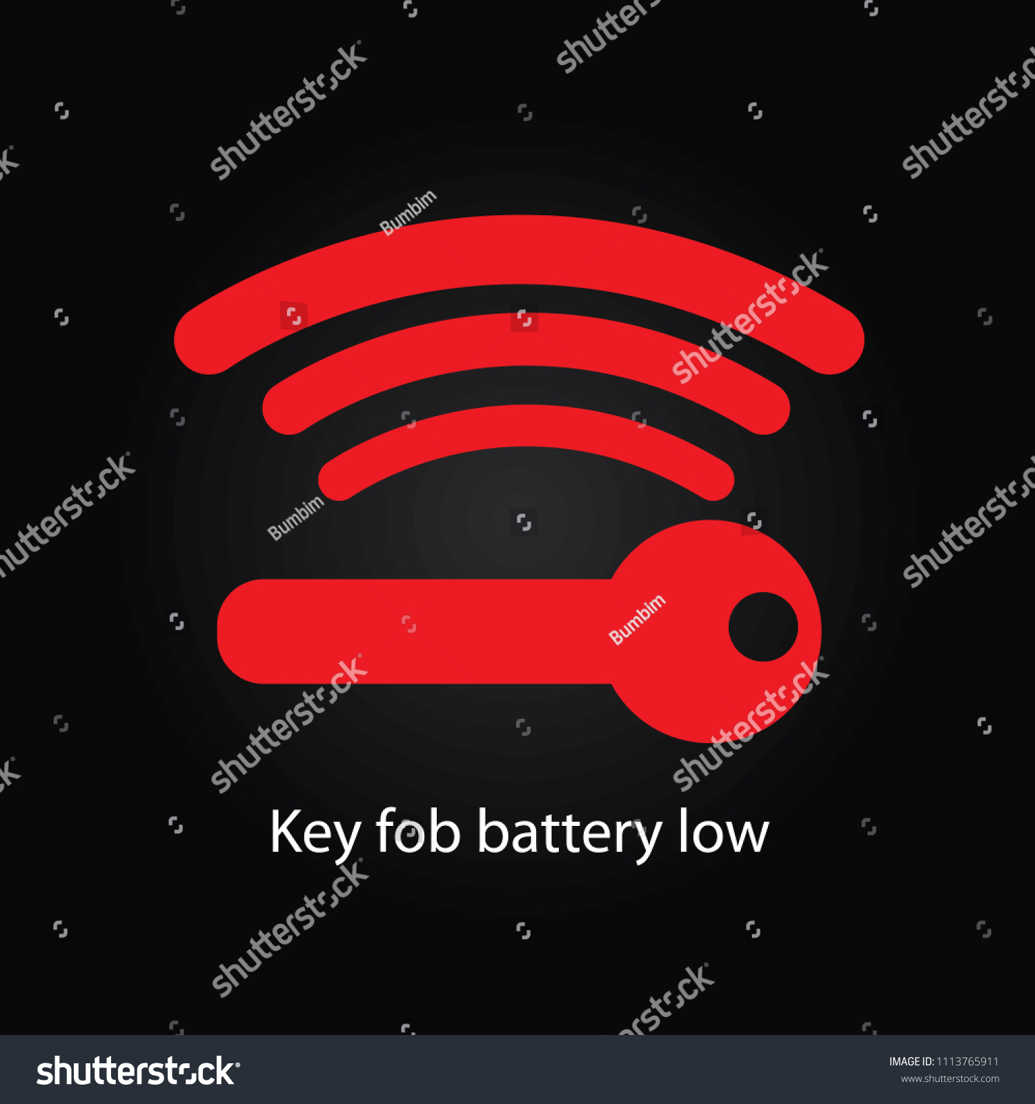 Key Fob Battery Low >> Key Fob Battery Low Stock Illustration 1113765911