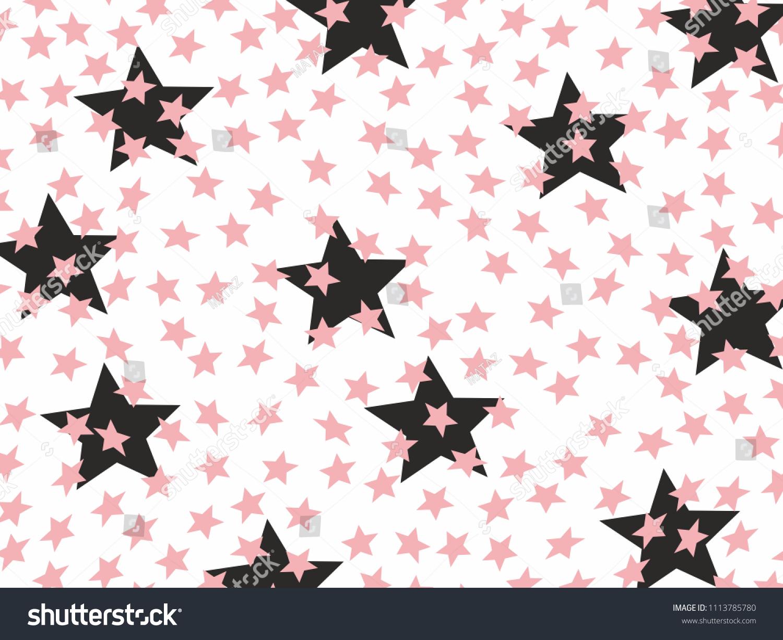 Pink Black Stars Wallpaper Design Concept Stock Vector Royalty