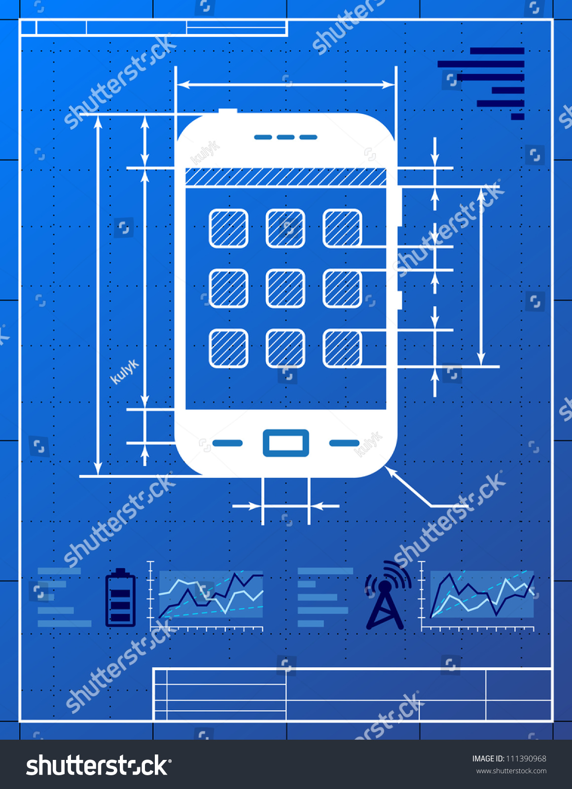 Smart phone like blueprint drawing stylized stock vector 2018 smart phone like blueprint drawing stylized drawing of smart phone on blueprint paper malvernweather Image collections