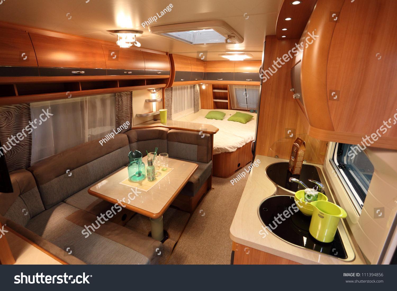 Dusseldorf August 27 Interior Modern Camper Stock Photo 111394856