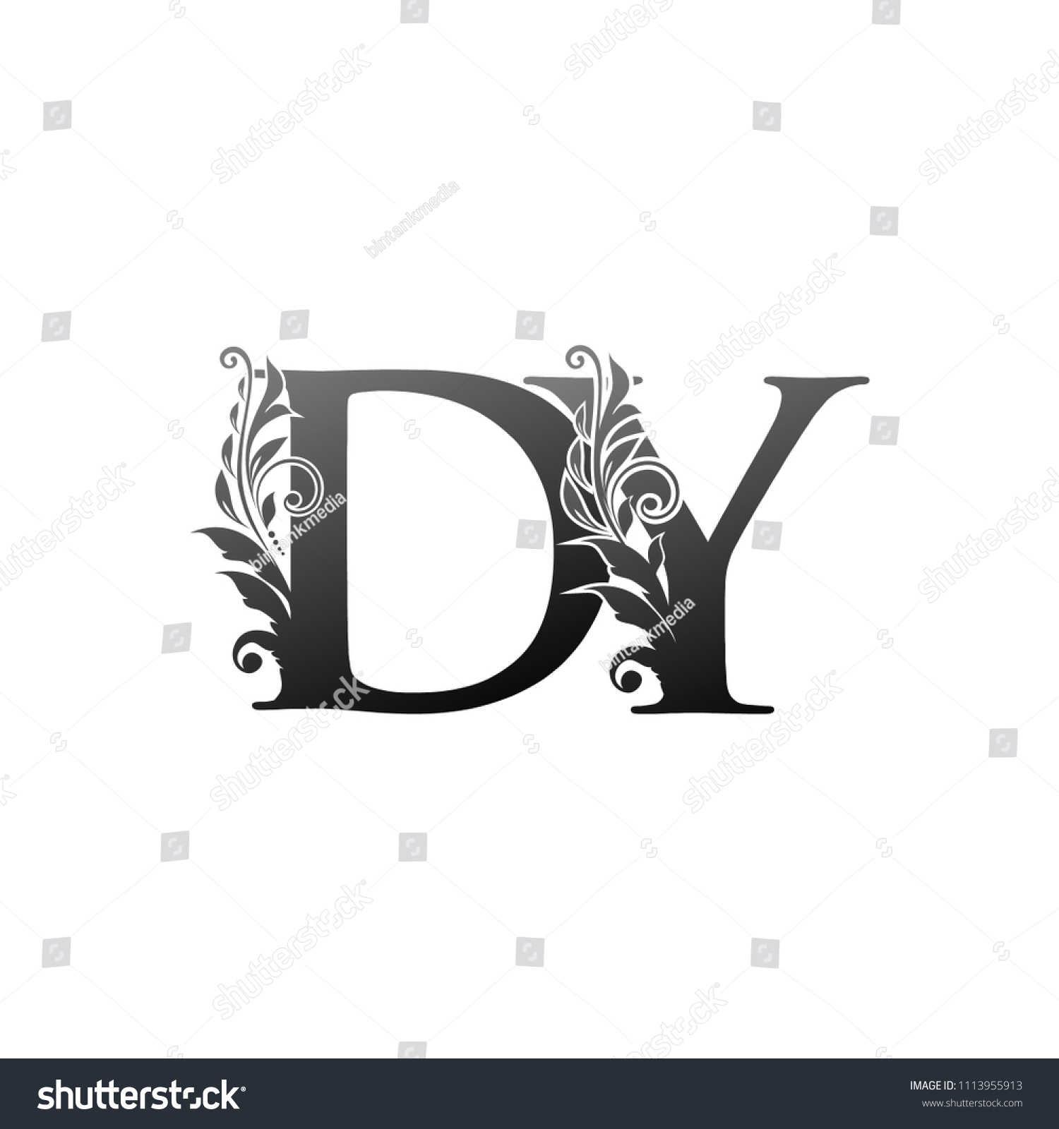 Dy D Y Letter Logo Luxury Stock Vector Royalty Free 1113955913