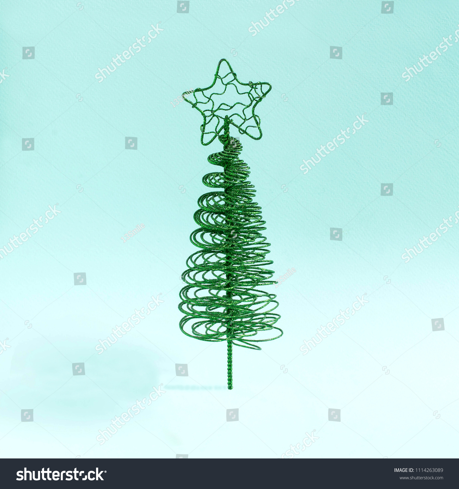 Small Elegant Christmas Tree Made Wire Stock Photo Edit Now 1114263089