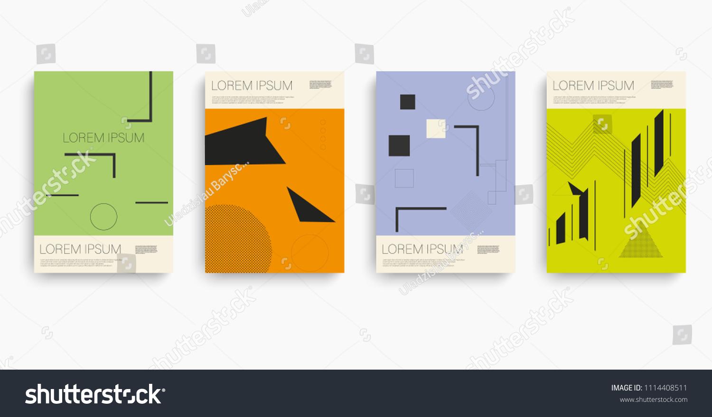 retro booklet brochure design brochure design stock vector royalty
