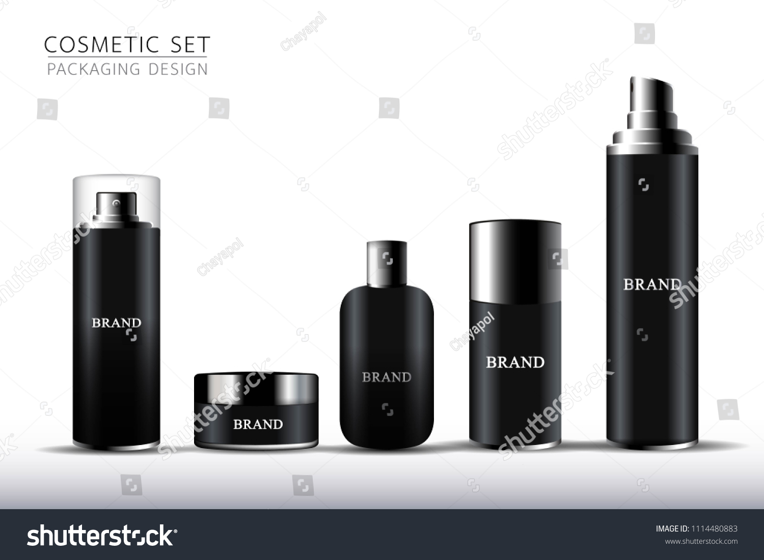 Product Mock Design Shower Gelcleansing Foam Stock Vector Royalty