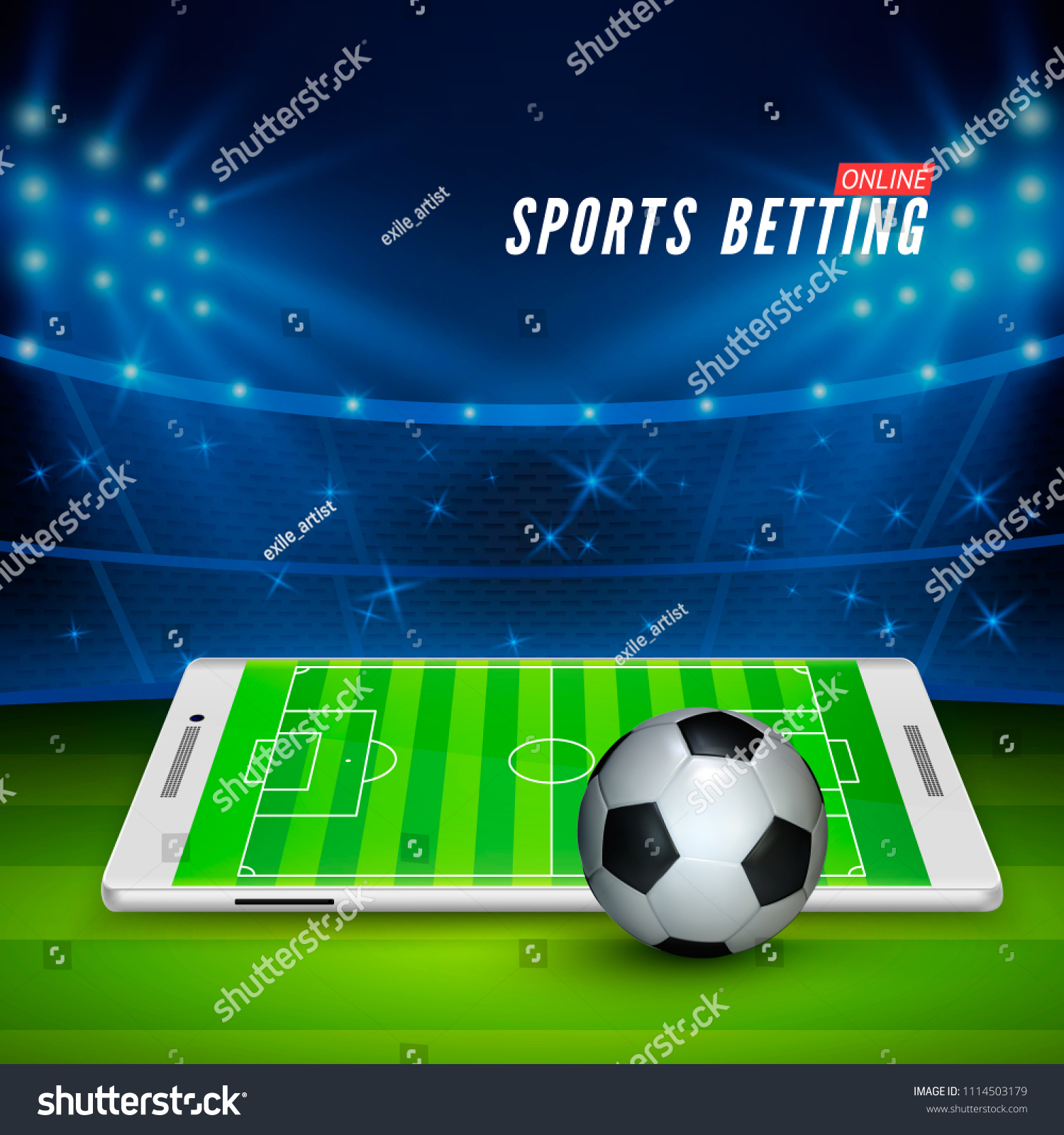 Soccer Bet Online Sports Betting Concept Stock Vector (Royalty Free)  1114503179