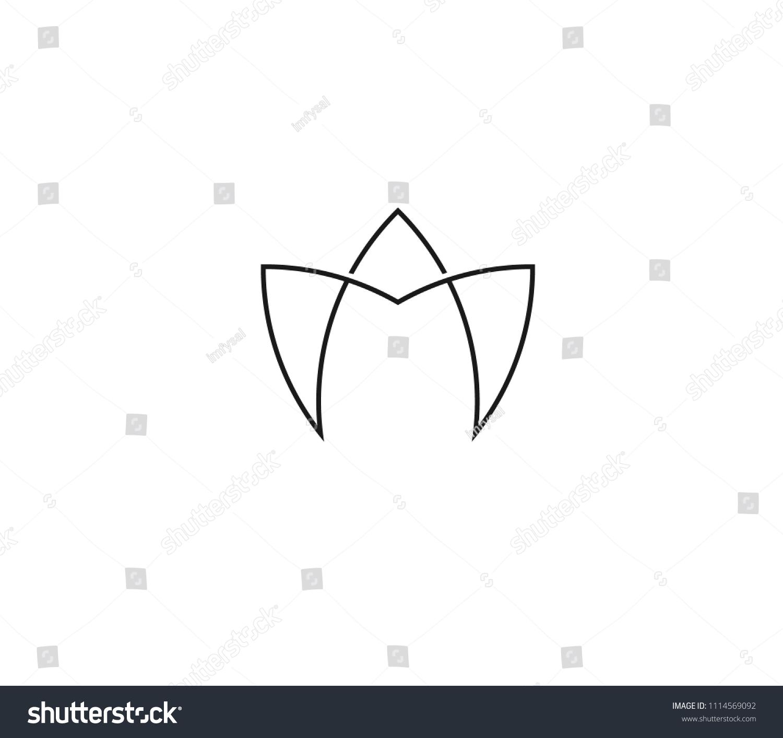 Letter start alphabet lotus flower monogram stock vector royalty letter start with alphabet a in a lotus flower monogram logo in line art style ccuart Choice Image