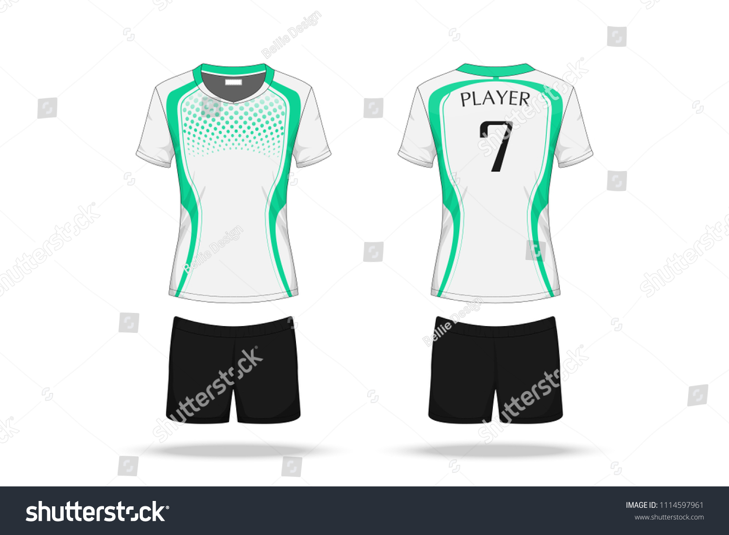 Specification Volleyball Jersey Isolated On White Beauty Fashion