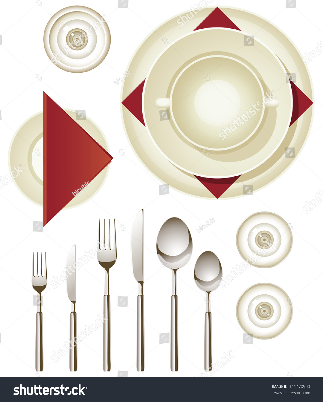 Vector Collection Dinnerware Creating Your Own Stock Vector ...