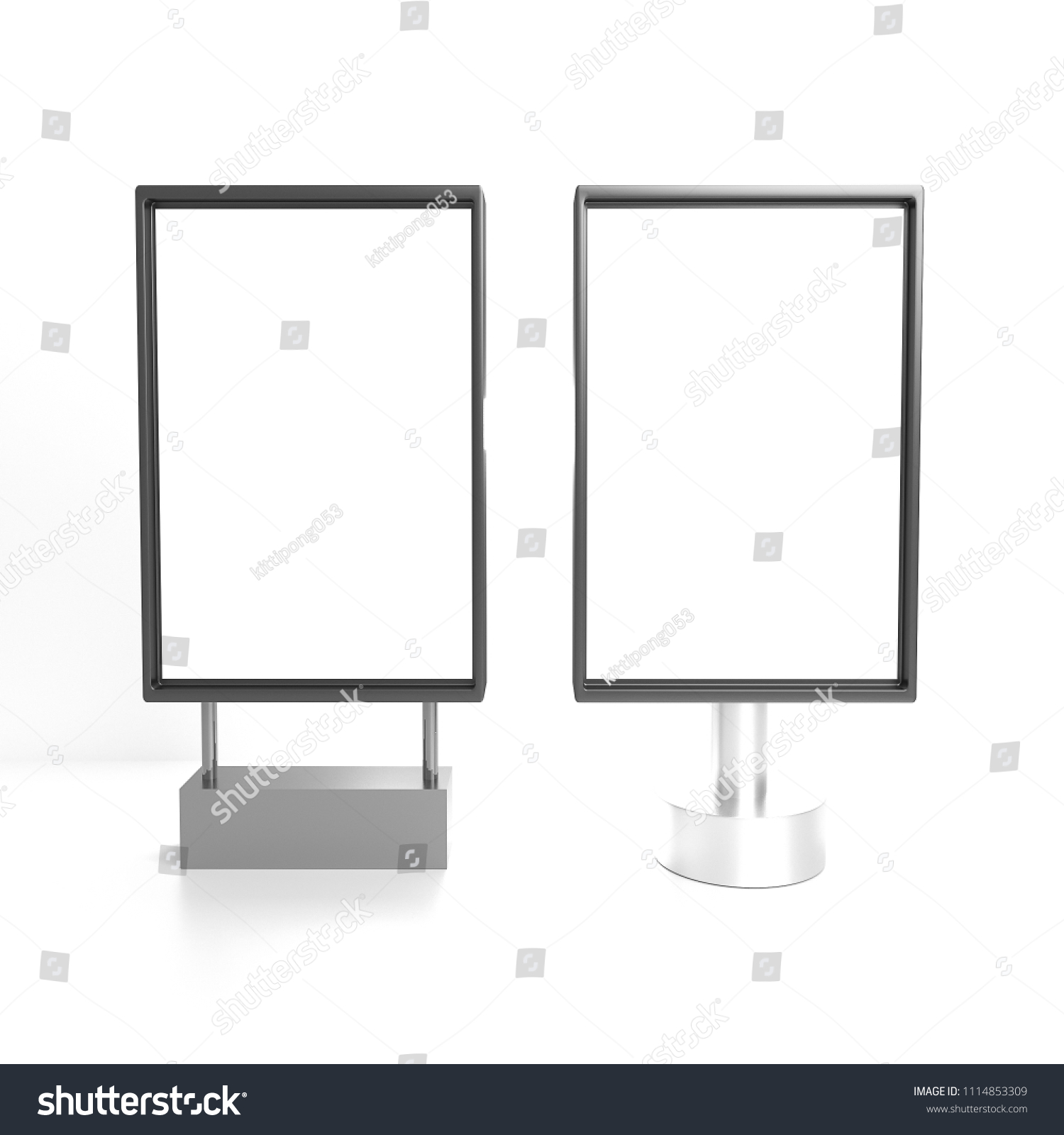 mock two vertical square light boxes stock photo edit now