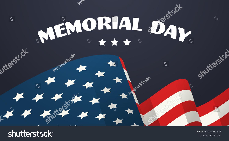 Memorial Day Usa Greeting Card Wallpaper Stock Vector Royalty Free