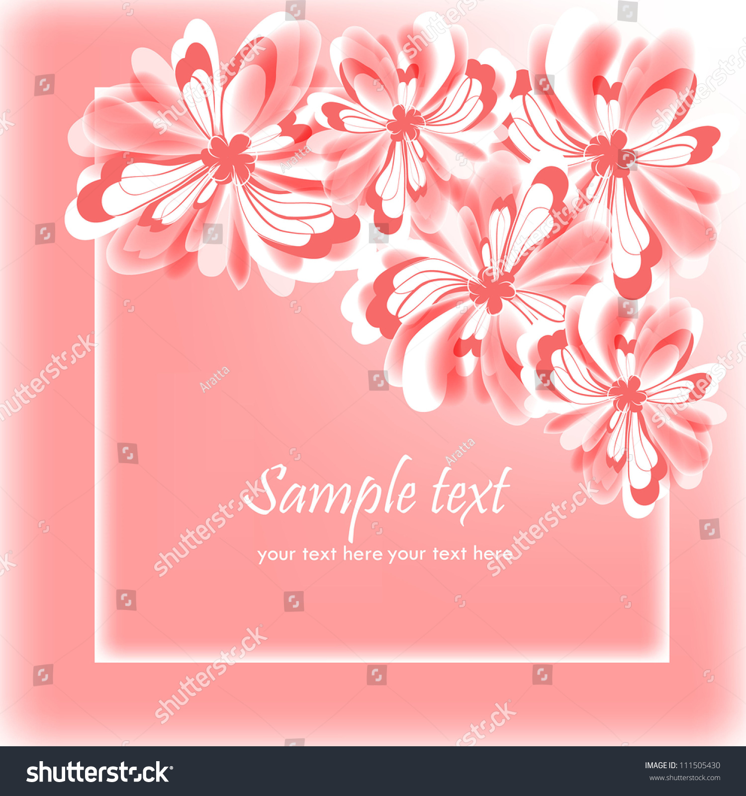 Invitation Greeting Card Abstract Floral Background Stock Vector
