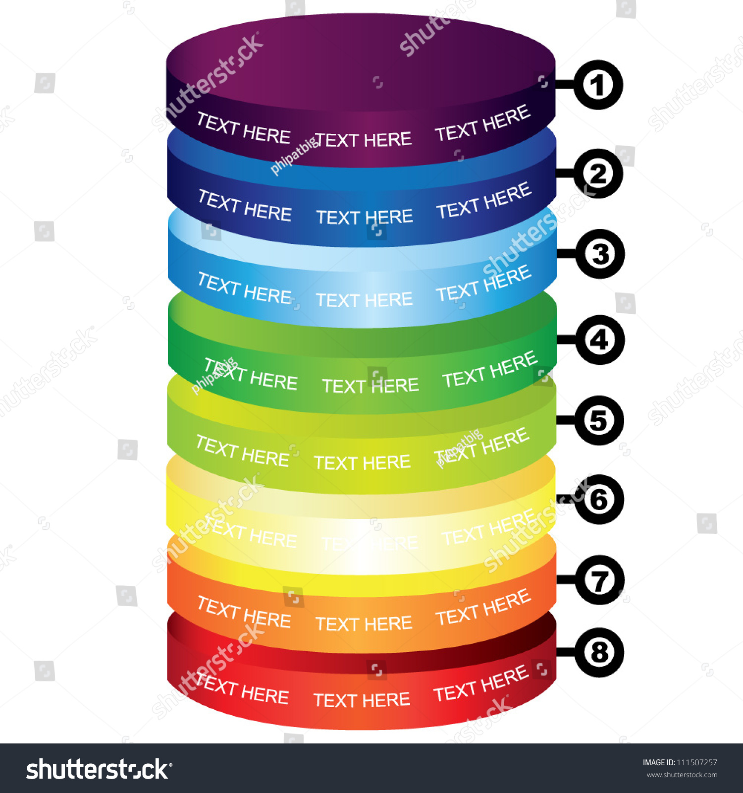 colorful cylinder diagram stock vector illustration     colorful cylinder diagram stock vector illustration    shutterstock