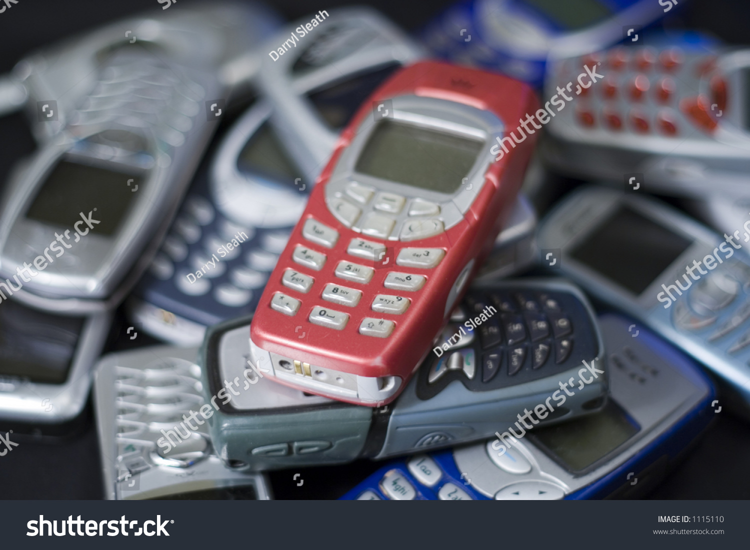 Pile Of Cell Phones : Pile mobile cell phones stock photo  shutterstock