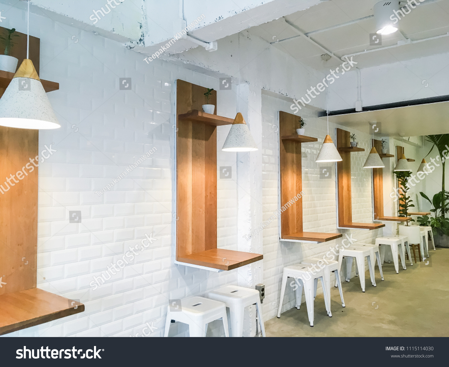 Interior Design Of A Happy Bones Style, Coffee Shop, Cafe. This Look: