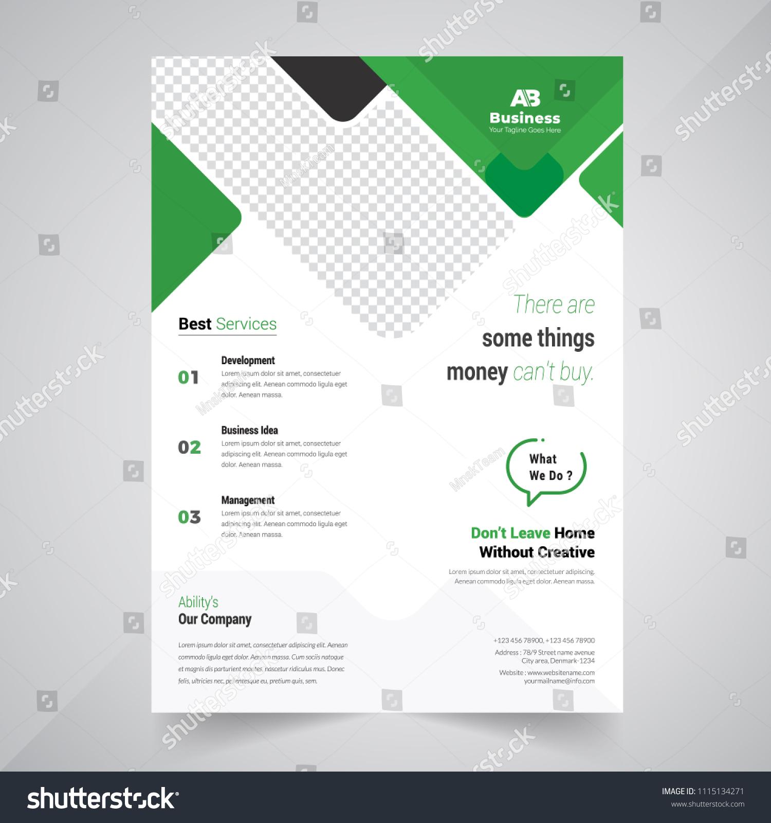 Flyer Design Business Brochure Template Annual Stock Vector