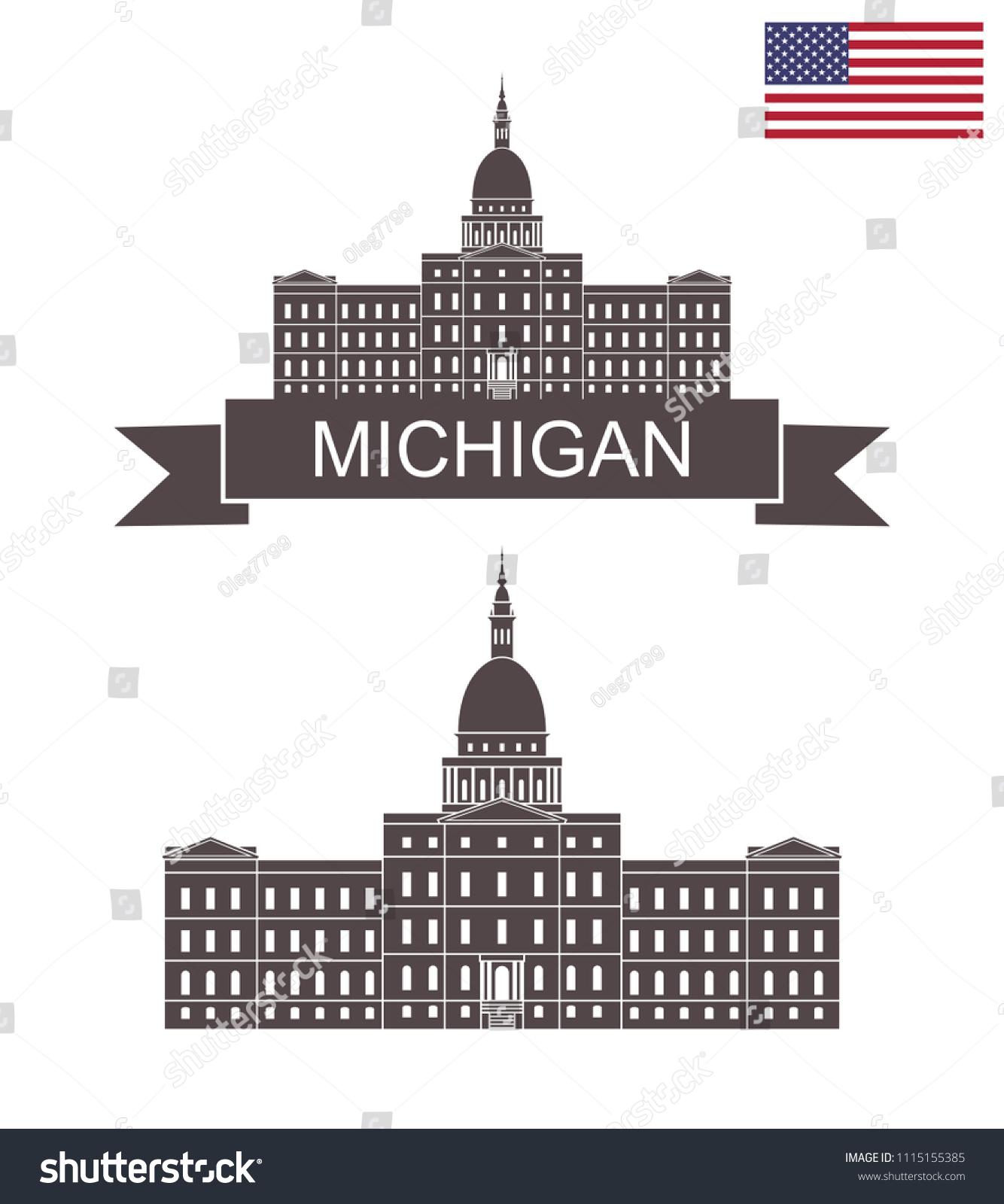 state michigan capital building lansing michigan stock vector royalty free 1115155385 https www shutterstock com image vector state michigan capital building lansing 1115155385
