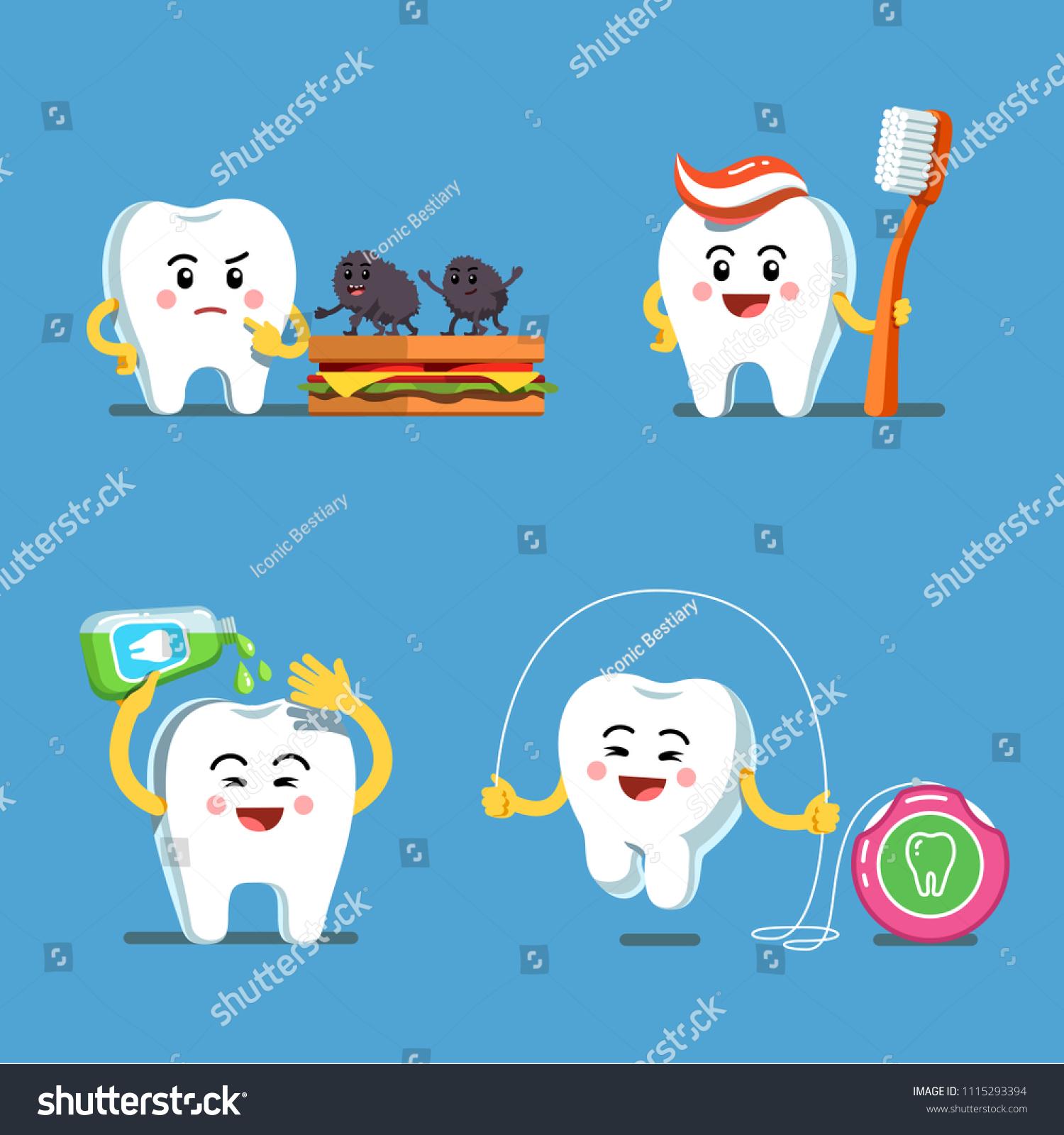 Flossing Teeth Clipart