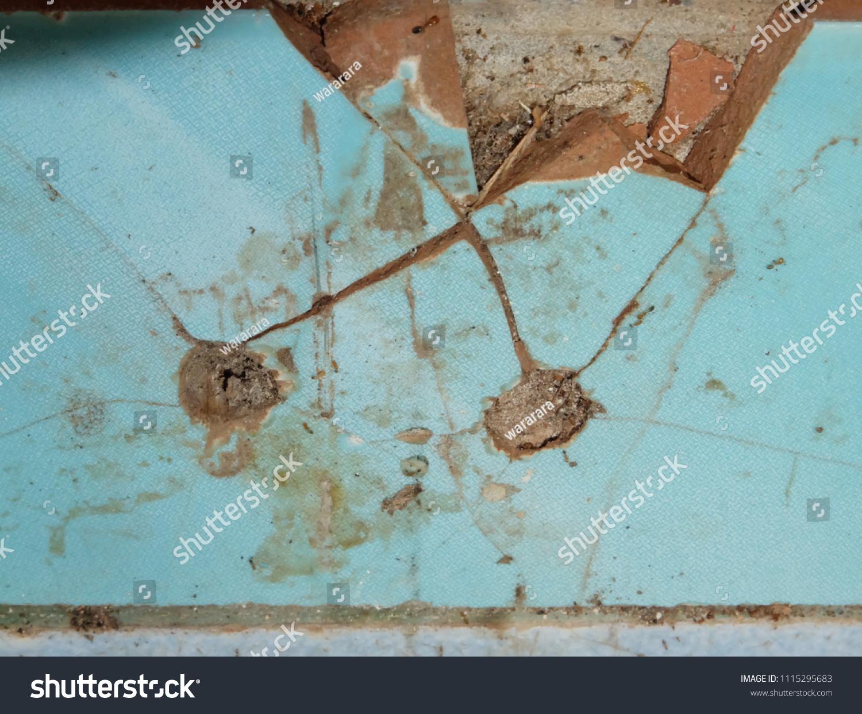 Old Broken Asbestos Floor Tiles Stock Photo Edit Now 1115295683