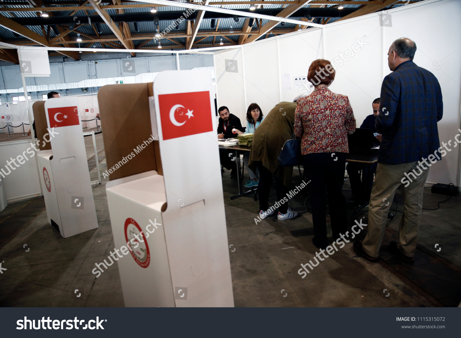 Turkish Citizens Living Abroad Vote Turkish Stock Photo