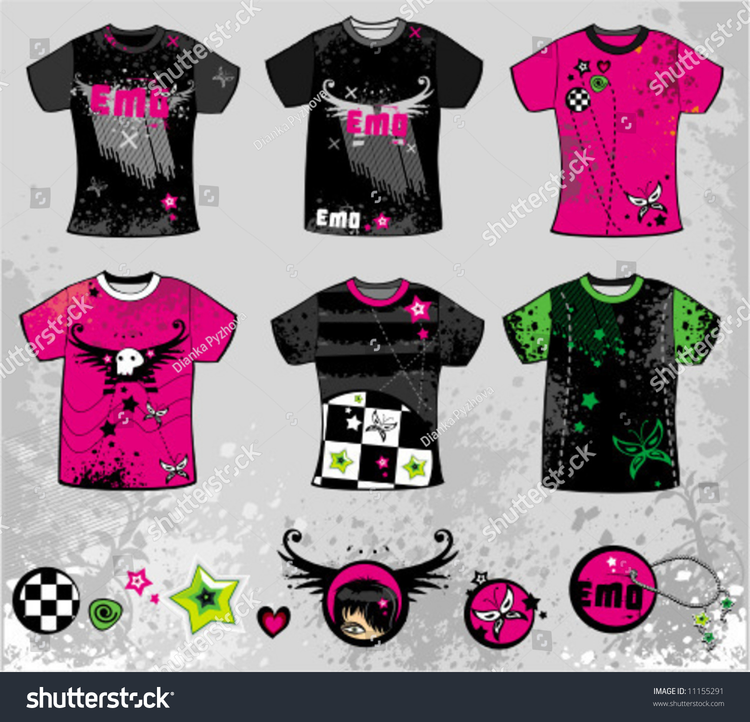 Shirt design elements - Emo T Shirts To See Similar Design Elements Please Visit My Gallery