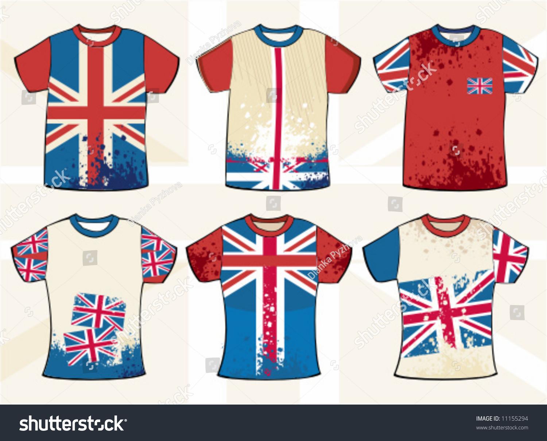 Shirt design elements - Grunge English T Shirt Design To See Similar Design Elements Please Visit My Gallery Stock Vector Illustration 11155294 Shutterstock