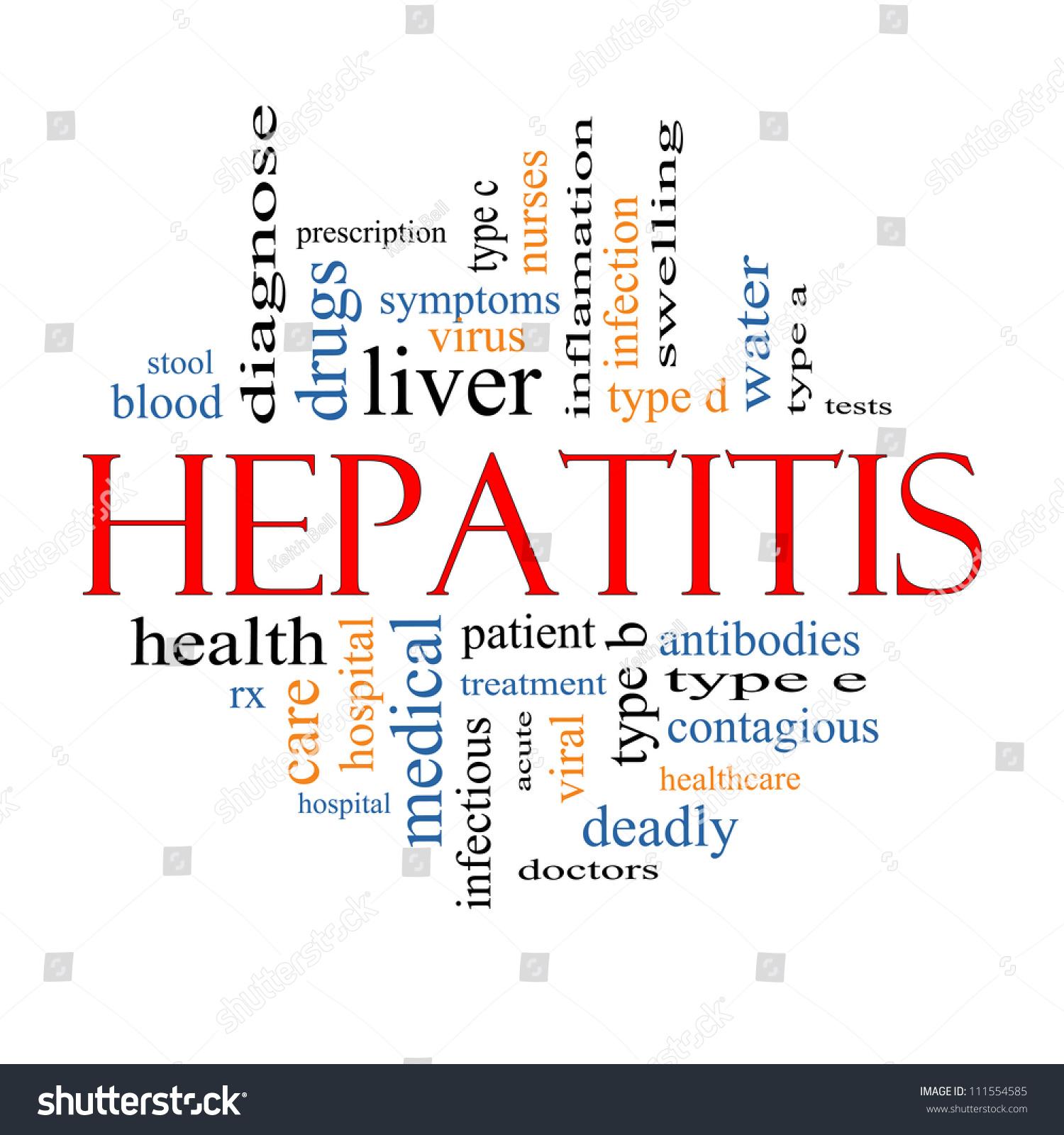 Viral Word: Hepatitis Word Cloud Concept Great Terms Stock