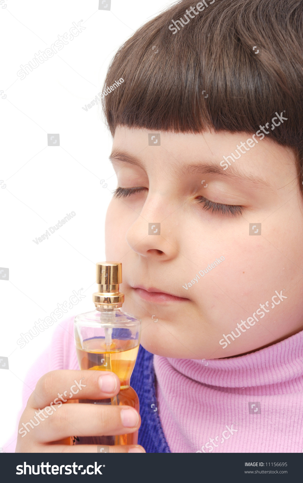Child Smell Mothers Perfume Stock Photo Edit Now 11156695