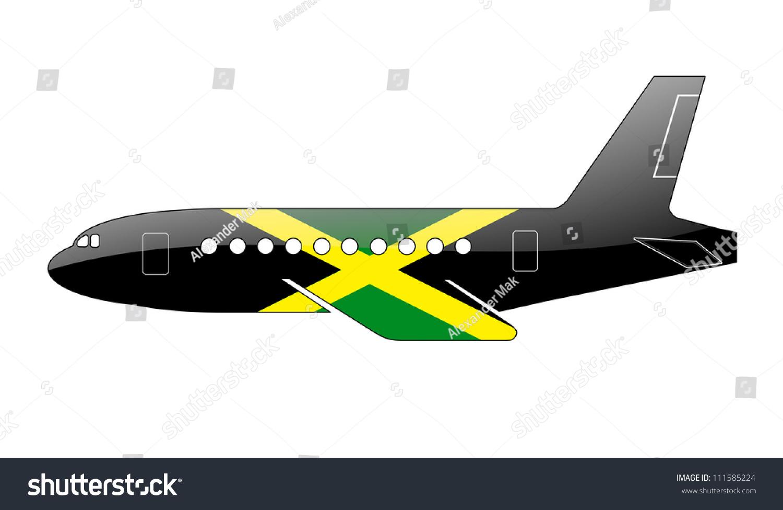 <b>Jamaica Flag Painted</b> Brush On White Stock Illustration 129062810 ...