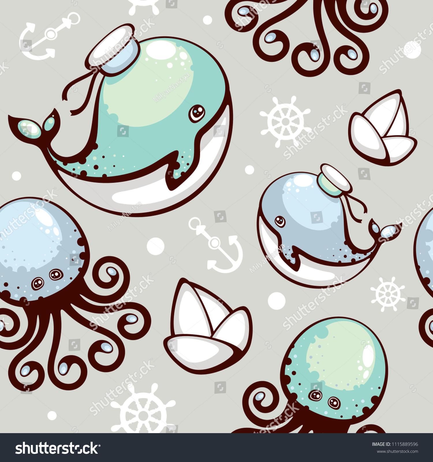 whale template pattern www