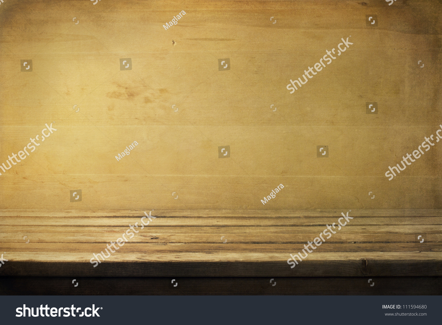 Background with wooden deck table and board stock