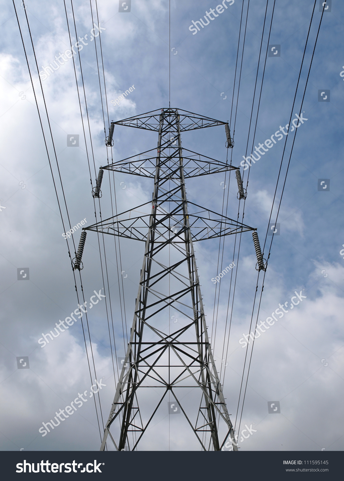 Electricity Pylon And Wires Forming Part Of The National Grid Ez Electrical Id 111595145