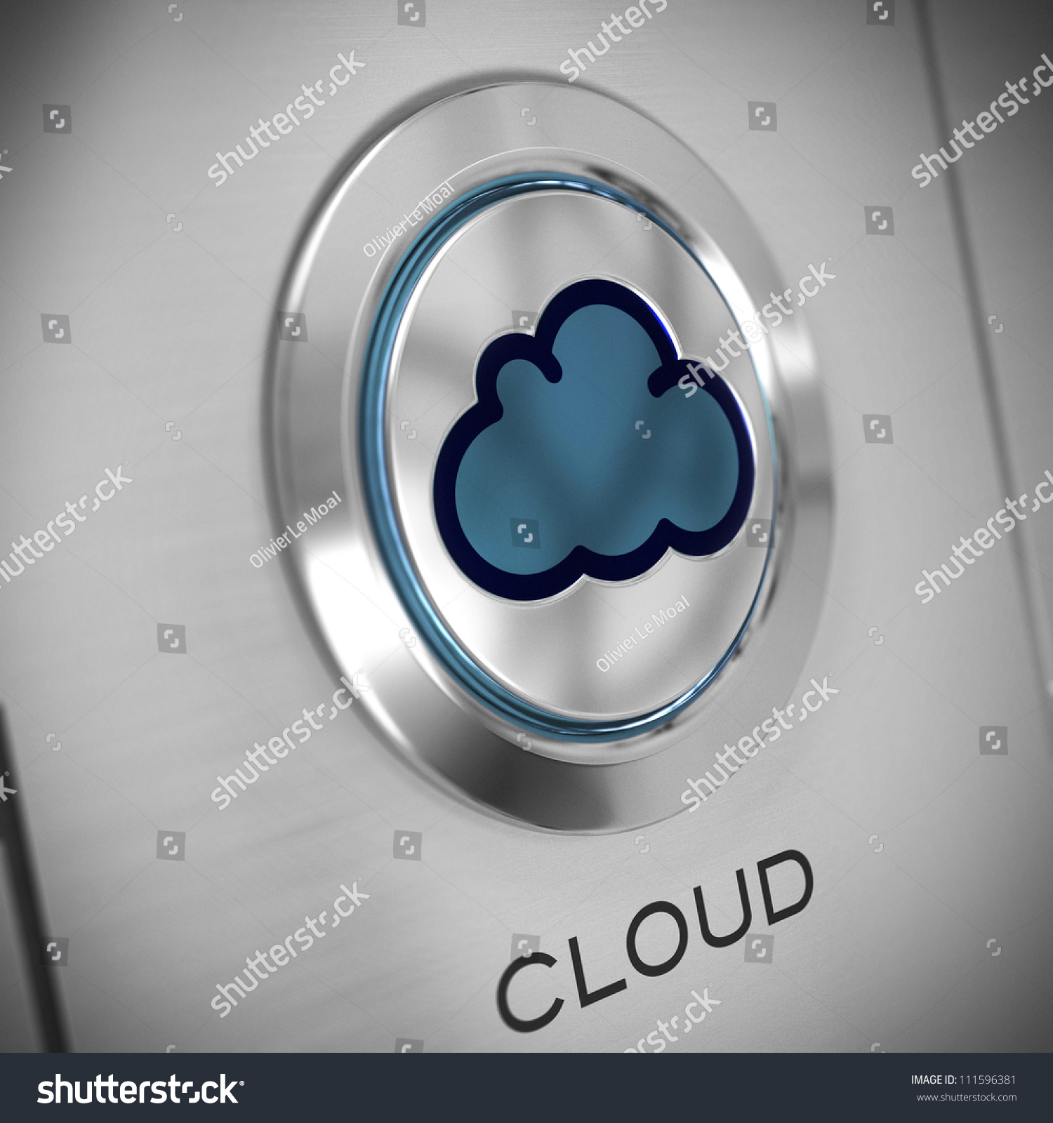 Button cloud symbol center metal background stock illustration button with a cloud symbol in the center metal background blue color the biocorpaavc Gallery