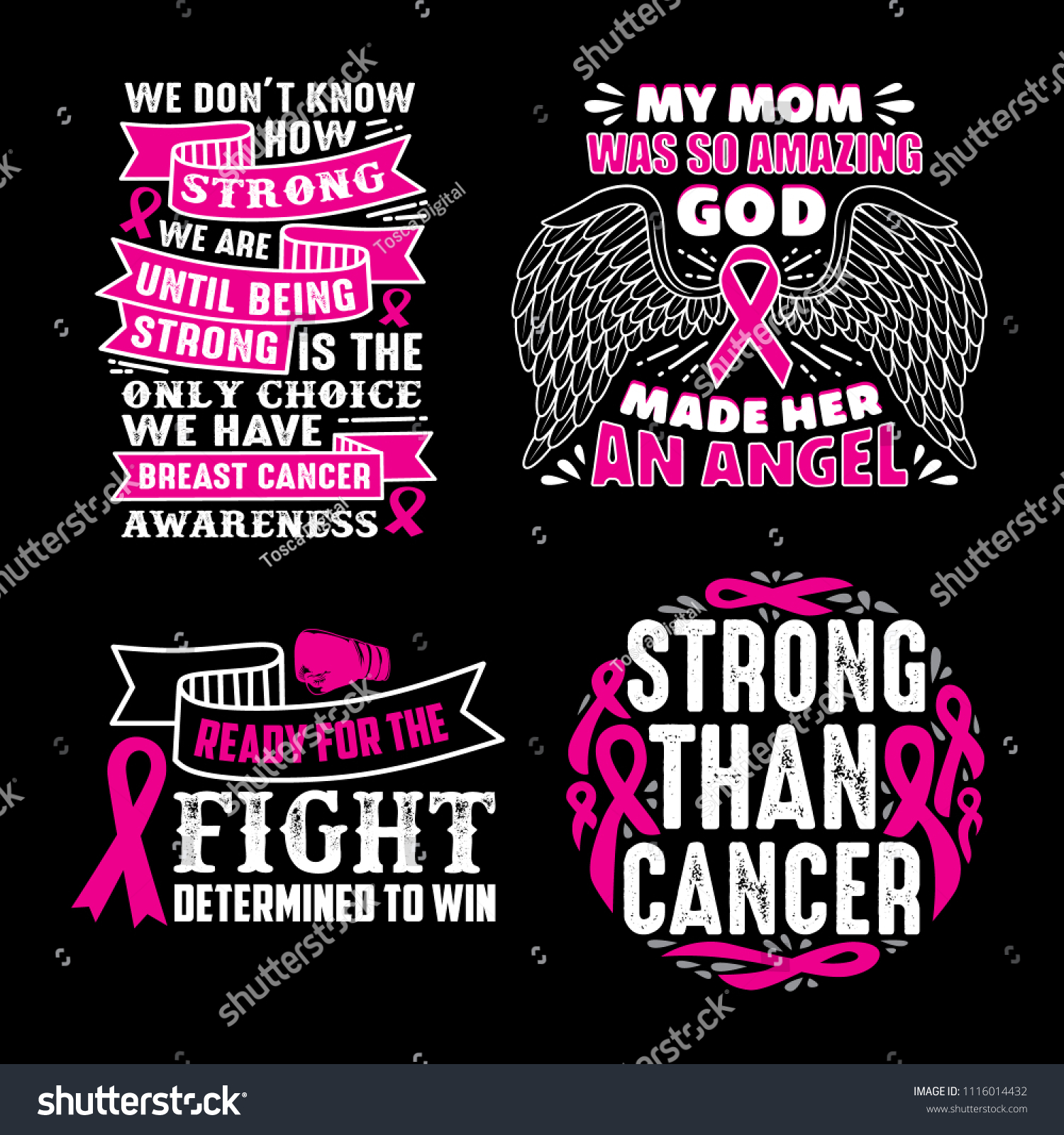 Breast Cancer Quotes Saying 100 Vector Stock Vector (Royalty ...