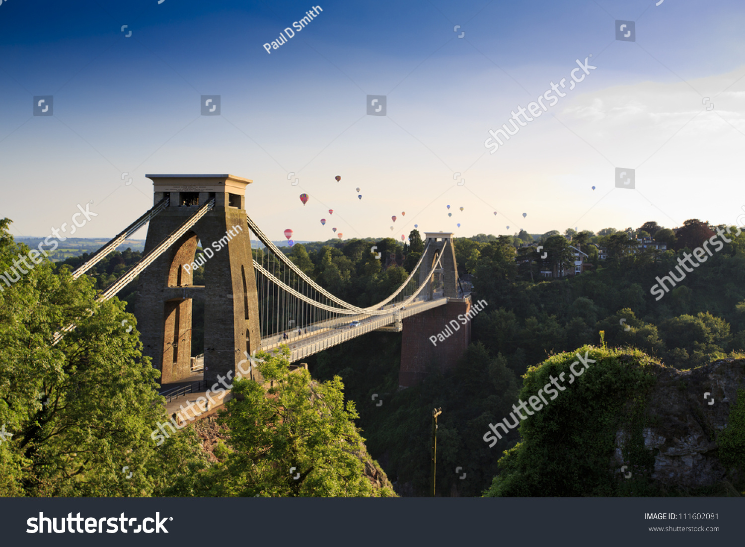 Clifton suspension bridge and Balloon Fiesta, Bristol, UK #111602081