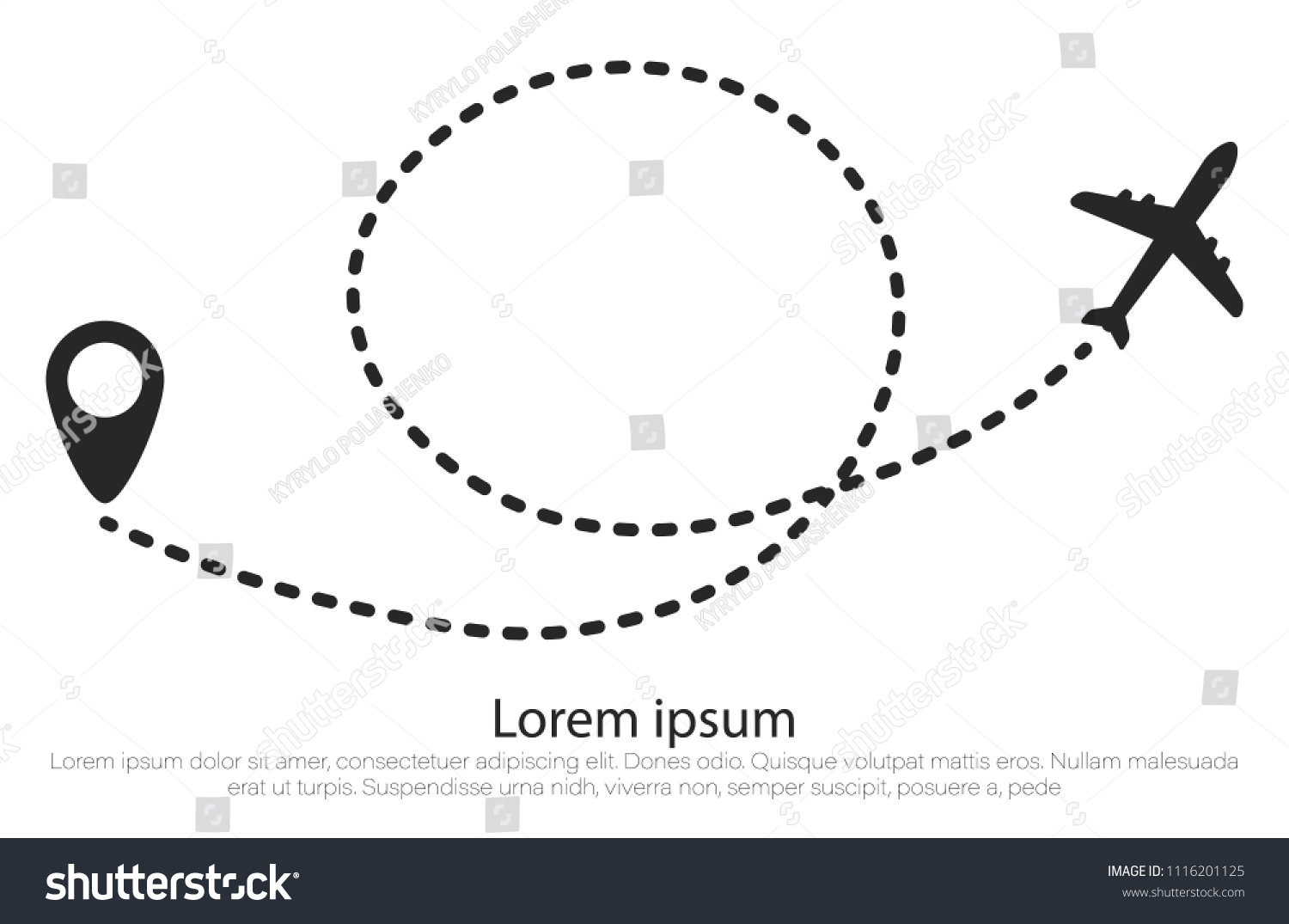 Airplane Route Dotted Line Shape Plane Stock Vector Royalty Free Wiring Diagram Dashed In And Its Track On White Background