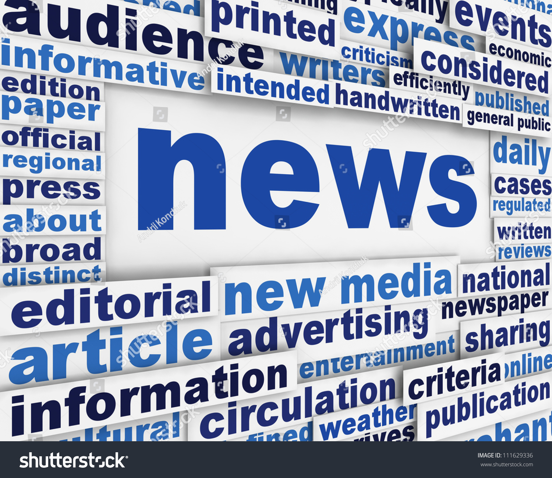 Poster design article - News Poster Design Background News Media Message Conceptual Design