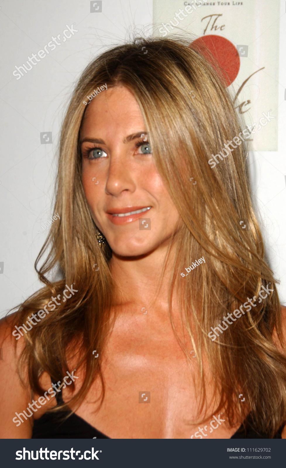 Jennifer Aniston Party Celebrating Books Written Stock Photo